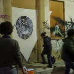 KAOS is an interdisciplinary project that took place in november 2015 in the urban environment of Athens between french and greek  artists from different artistic backgrounds. Artists were invited to share their personal approach and work collectively on issues of urban transformation and creative intervention in public spaces. The process of KAOS is to become a map of expressions on thoughts, doubts and ideas.